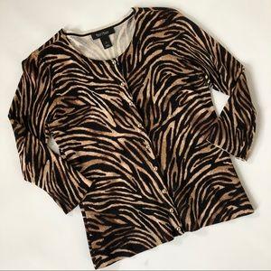 WHBM Tiger Stripe Cardigan